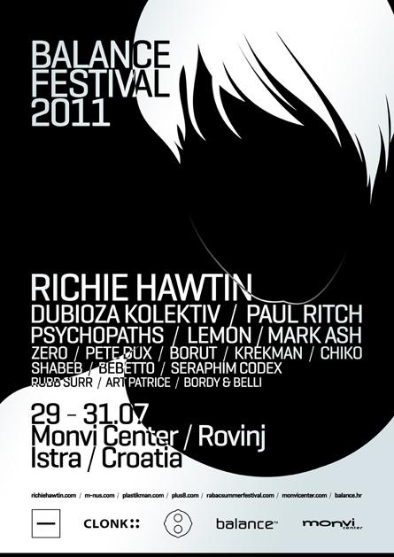 balance festival 2011 - richie hawtin - minus - flyers, posters, design