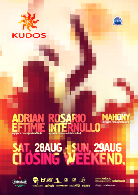 kudos beach closing weekend party 2010 - adrian eftimie, rosario internullo, mahony