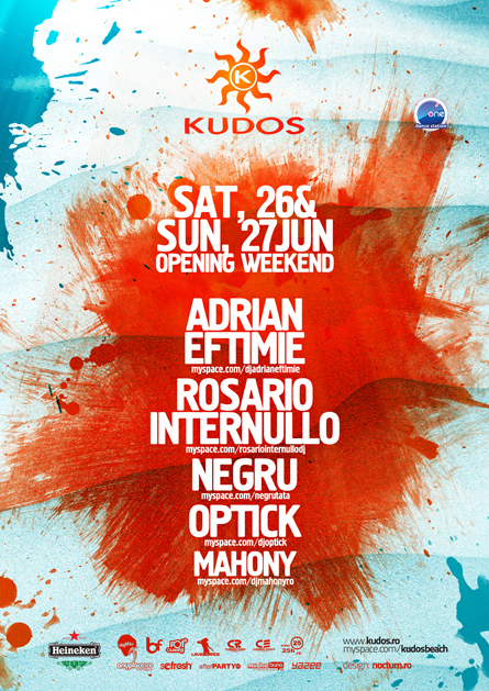 kudos beach - opening weekend  adrian eftimie, rosario internullo, negru, optick