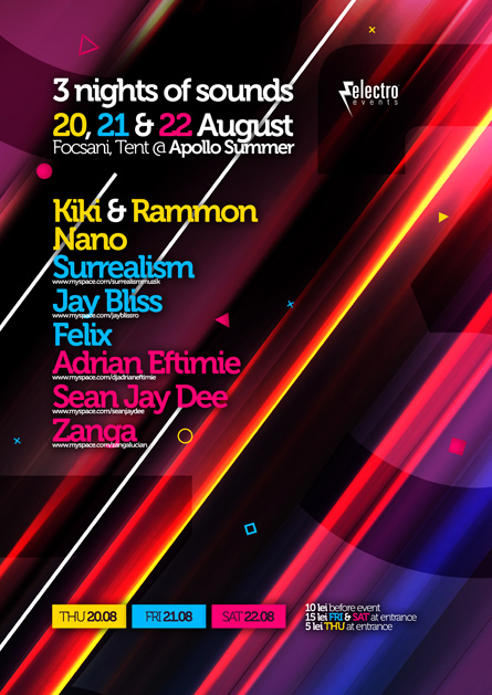 3 nights of sounds apollo summer focsani - jay bliss, surrealism, adian eftimie - electro events