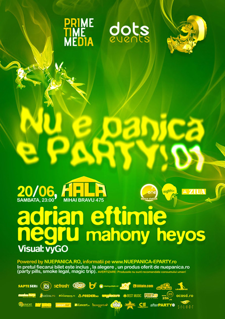 nu e panica e party - adrian eftimie, negru