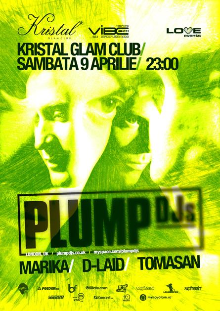 plump djs, marika, d-laid, tomasan - kristal glam club - flyers, posters, design