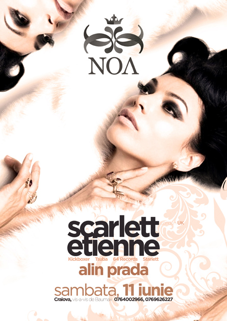 scarlett etienne - noa club - flyers, posters, invitations, design