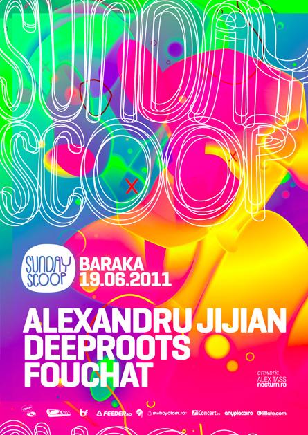 sunday scoop - baraka - alexandru jijian, deeproots, fouchat - flyers, posters, design