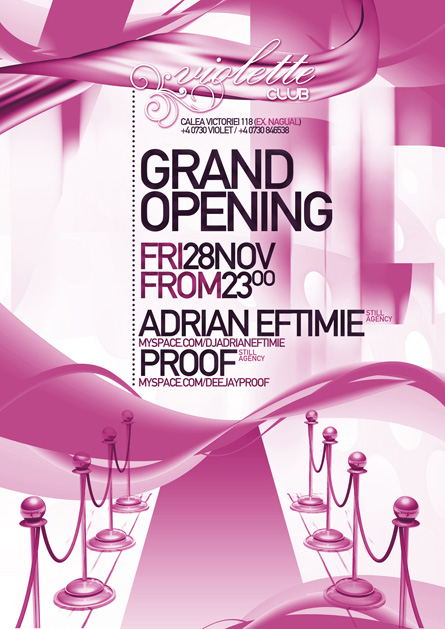 violette opening party - adrian eftimie, proof