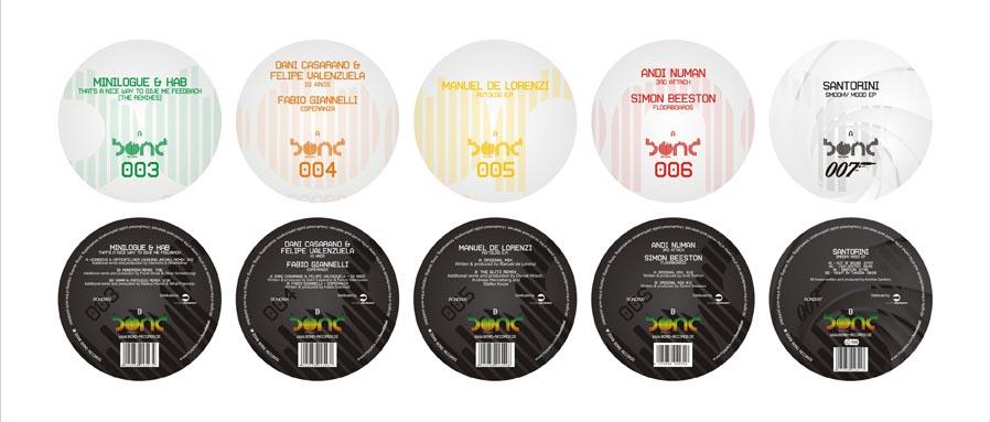 bond records: vinyl stickers