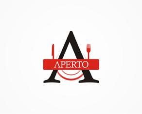 Aperto, Romanian, restaurant, Italian, cuisine, logo, logos, logo design by Alex Tass