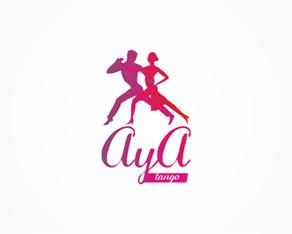 AYA Tango, tango, lessons, tango lessons, tango events, logo, logos, logo design by Alex Tass