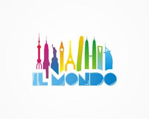 Il Mondo, ice cream, coffee, shops, logo, logos, logo design by Alex Tass