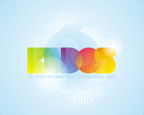 Kudos Beach – 6 years anniversary logo design
