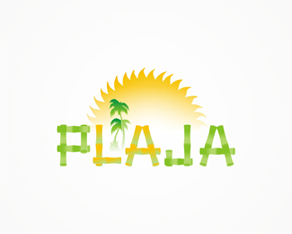 La Plaja, On the beach, cosmetics, spa, saloon, logo, logos, logo design by Alex Tass
