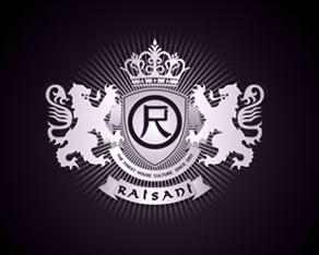 Raisani Records, Dubai, EAU, electronic music, records label, party organizer, events organizer, 5 years, 5 years anniversary, anniversary logo, anniversary, logo, logos, logo design by Alex Tass