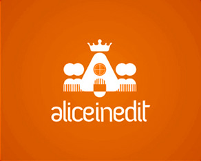 Alice Inedit, pastry, sweets, chocolaterie, special cakes, cakes decoration, special figures, logo, logos, logo design by Alex Tass