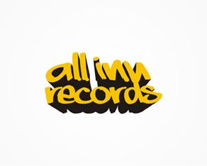 All Inn records label logo design