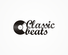 Classic Beats, clubbing, electronic music, classic tunes, radio show, logo, logos, logo design by Alex Tass