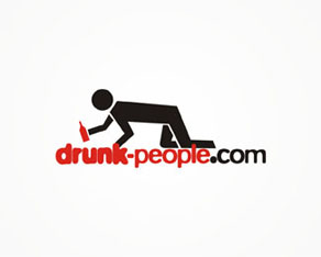 drunk people, fun, funny, pictures, videos, blog, logo, logos, logo design by Alex Tass