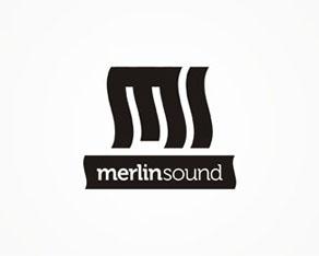 Merlin Sound, audio setup, configuration, installation, clubs, bars, pubs, restaurants, bistros, logo, logos, logo design by Alex Tass