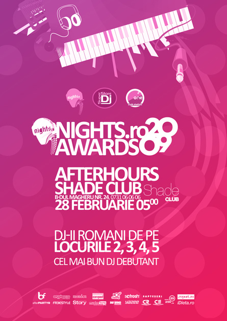 nights awards 2009 afterhours shade club - poster