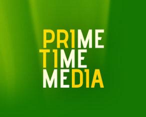 Prime Time Media, media, advertising, events, agency, logo, logos, logo design by Alex Tass