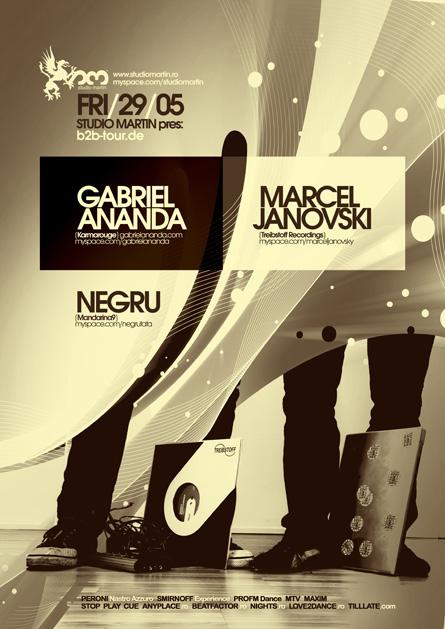 studio martin - Gabriel Ananda, Marcel Janovski (Back2Back tour), Negru
