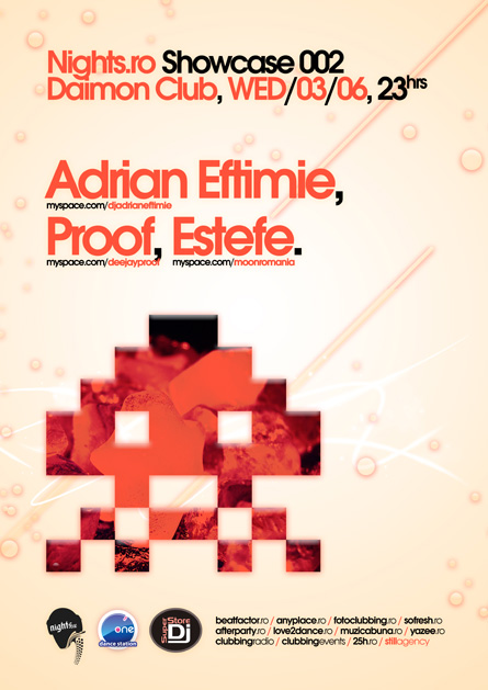 nights.ro showcase 002 @ daimon club: adrian eftimie, proof, estefe