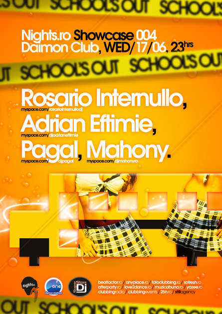 daimon club - nights.ro showcase 004 / school's out! - rosario internullo, adrian eftimie, pagal