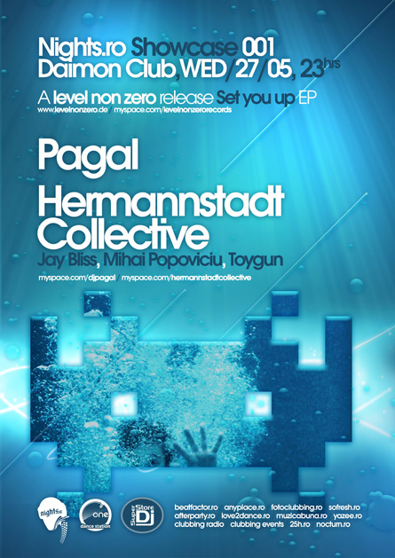 nights.ro showcase 001 @ daimon club: pagal, hermannstadt collective (jay bliss, mihai popoviciu) - Set You Up EP release (Level non zero)