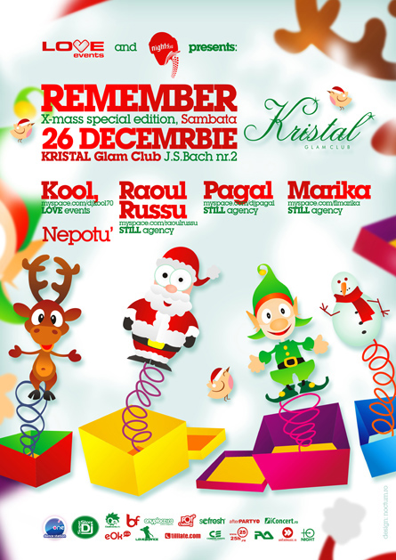 love events dj's remember - kool, raoul russu, pagal, marika, nepotu - kristal
