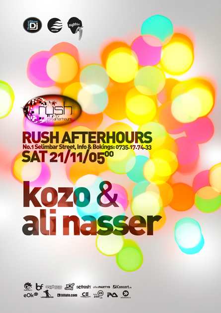 rush afterhours - kozo, ali nasser (dj sneak afterhours)