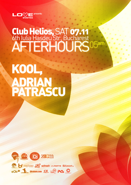 love events afterhours - kool, club helios, 6 november