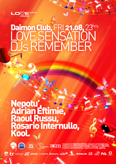 love sensation dj remember - adrian eftimie, rosario internullo, raoul russu, kool