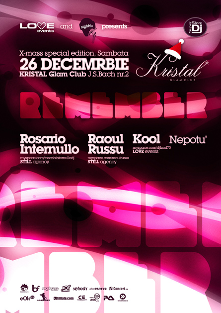 love events dj's remember - kool, raoul russu, marika, nepotu - kristal
