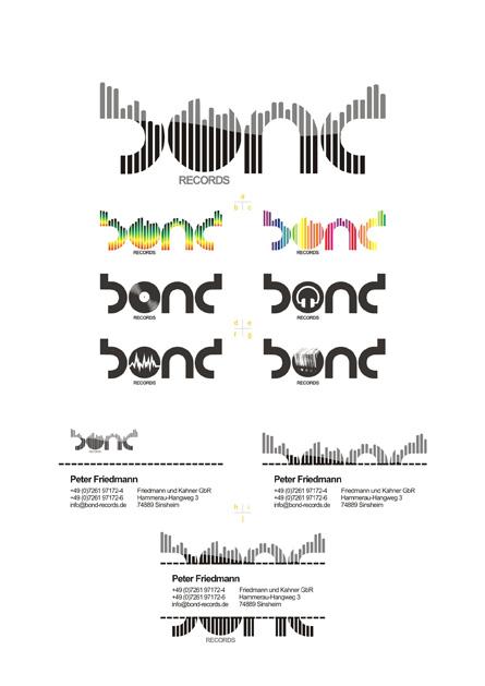 bond records: logo, logo colors, secondary logo versions, e-mail signature