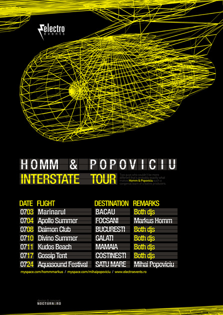Homm & Popoviciu Interstate tour poster