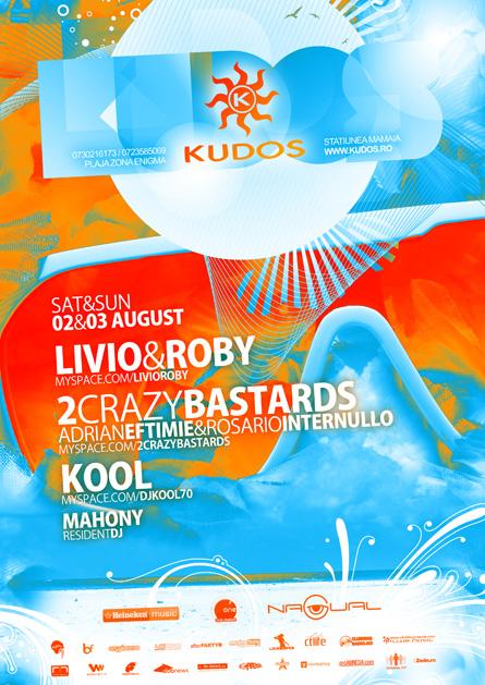 kudos beach, 2 crazy bastards, livio & roby, kool