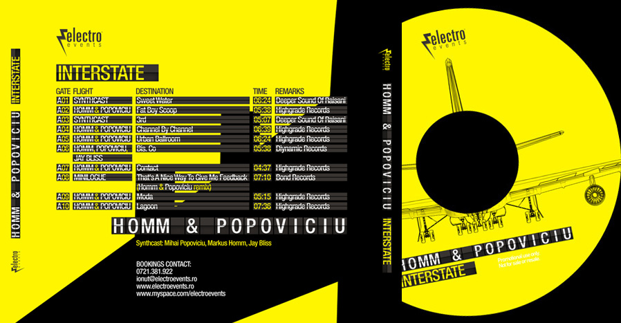 markus homm & mihai popoviciu - interstate back cover & cd