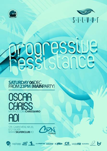 silver chriss progressive event, flyer & poster