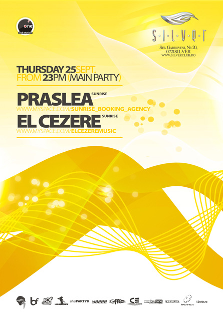 silver - praslea, el cezere, flyer & poster
