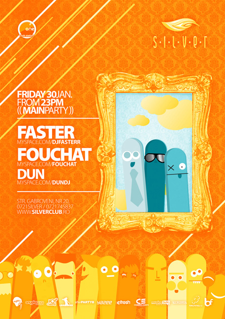 silver afterhours - faster, fouchat, flyer & poster
