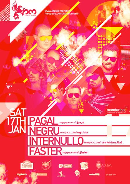 Studio Martin - Pagal, Negru, Rosario Internullo, Faster - Mandarina9 Showcase, poster
