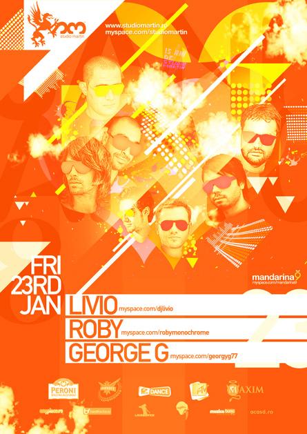 Studio Martin - Livio, Roby, George G, Monochrome - Mandarina9 Showcase, poster