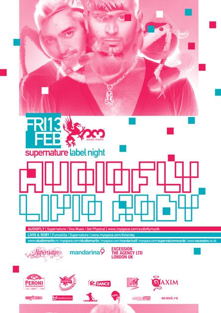 Studio Martin - Audiofly, Livio&Roby, poster
