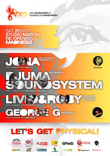 Studio Martin - Jona, Djuma Soundsystem, Livio & Roby, poster & flyer