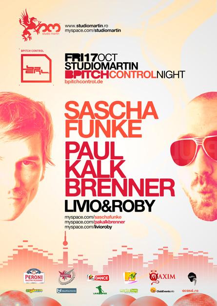 Studio Martin - Sascha Funke, Paul Kalkbrenner, Livio & Roby, poster & flyer