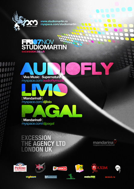 Studio Martin - Audiofly, Livio, Pagal, poster