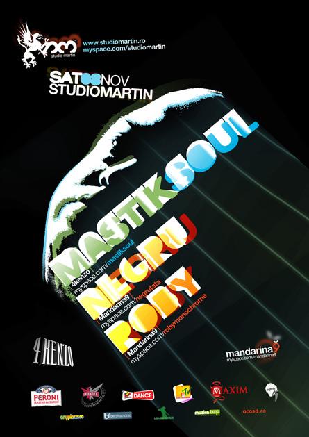Studio Martin - Mastiksoul, Negru, Roby, poster