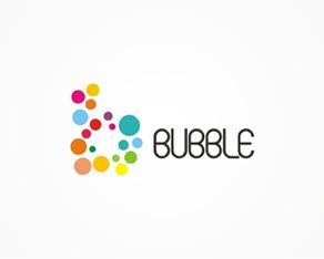 Bubble, PR, electronic, music, events, agency, logo, logos, logo design by Alex Tass