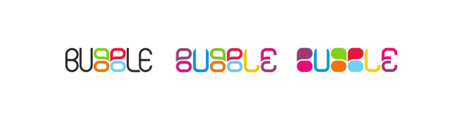 bubble logo (PR management, bookings, label and events agency)