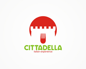 Cittadella – Italian cuisine restaurant logo design