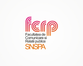 FCRP – SNSPA, Communications and Public Relation Faculty from the National School of Political and Administrative Studies, Bucharest, Romania, faculty, communication, PR, public relations, university, school, political, administrative, studies, logo, logos, logo design by Alex Tass